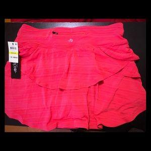 Ideology Workout Skirt Skort Short NWT coral med